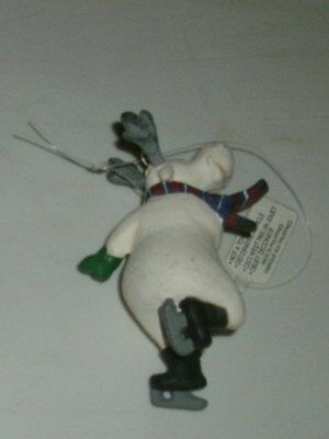 1990s Dept 56 Skating Moose Christmas Ornament - Excellent Condition - Retired