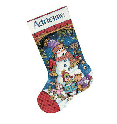 """Cute Carolers Stocking Counted Cross Stitch Kit-16"""" Long 14 Count"""