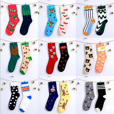 UP Cute Women Girl Fashion Cotton Cartoon High Socks Hosiery Casual Stockings