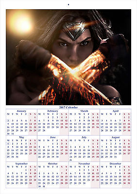Wonder Woman V3 - 2017 A4 CALENDAR **BUY ANY 1 AND GET 1 FREE OFFER**