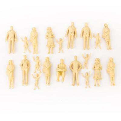 20 unpainted Model Train People Figures G Scale 1:25 assorted poses Passenger