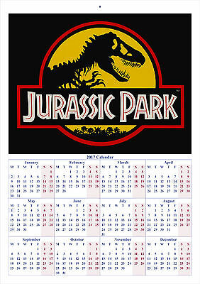 Jurassic Park - 2017 A4 CALENDAR **BUY ANY 1 AND GET 1 FREE OFFER**
