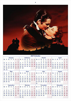 Gone with the Wind V2 - 2017 A4 CALENDAR **BUY ANY 1 AND GET 1 FREE OFFER**