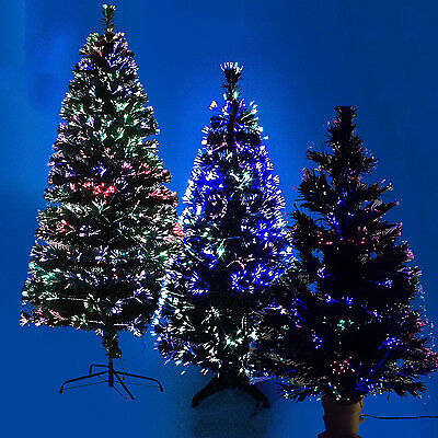 Black Fiber Optic Christmas Xmas Tree Indoor Artificial Traditional Led Tips New