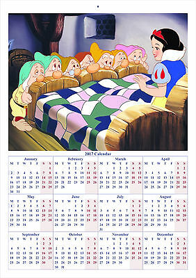 Snow White and the Seven Dwarfs V2 - 2017 A4 CALENDAR *BUY ANY 1 AND GET 1 FREE*