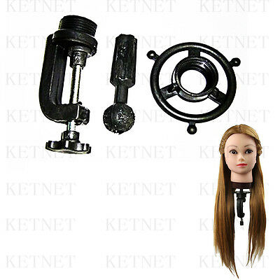 3PCS Human Hair Hairdressing Equipment Styling Head Tool + Clamp