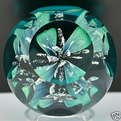 CAITHNESS Faceted JUBILEE ORCHID Scottish Glass Paperweight Colin Terris LIMITED