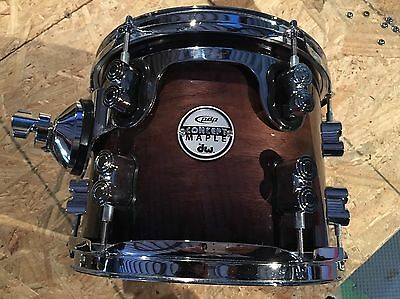 Pdp Concept Maple Exotic Series 10 X 8 Tom Natural Walnut To Black Fade