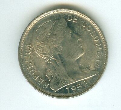 Colombia 1952 Centavo--Uncirculated