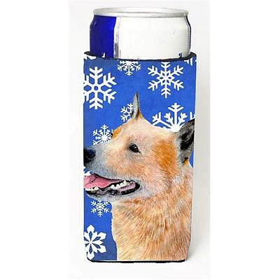 Australian Cattle Dog Winter Snowflakes Holiday Michelob Ultra bottle sleeves...