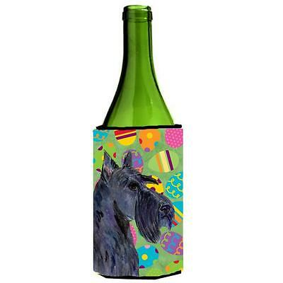 Scottish Terrier Easter Eggtravaganza Wine bottle sleeve Hugger 24 Oz.