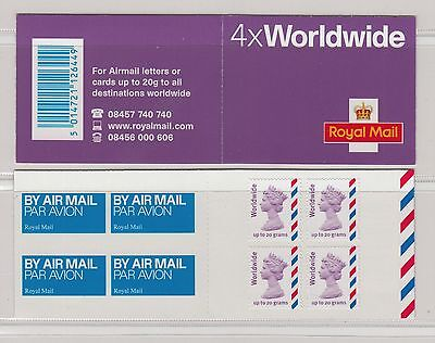 GB 2010 Walsall    MJ3    4x Worldwide 20g  Barcode Booklet