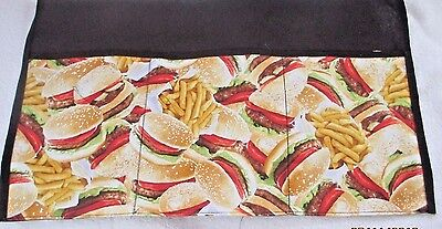 Waiter/waitress Server Waist Apron,Hamburgers and fries