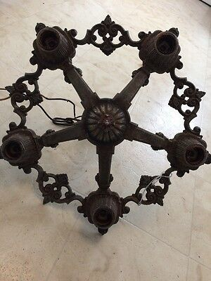 Vintage Art Deco 5 Light Chandelier Antique Home & Garden Ceiling Fixture