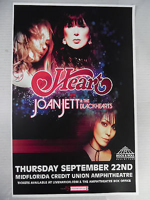 Heart and Joan Jett & The Blackhearts * ORIGINAL Gig Poster * FREE SHIPPING ! !