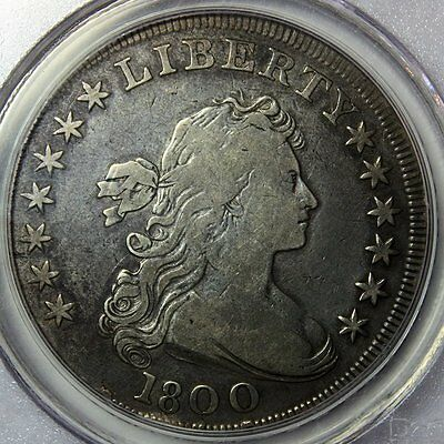 1800 Draped Bust Silver Dollar * PCGS F15 * Lovely and Original