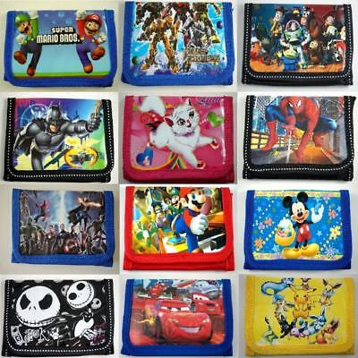 NEW Kids Childrens Boys Girls Cartoon Character Coins Purse Bag Wallet + Charm