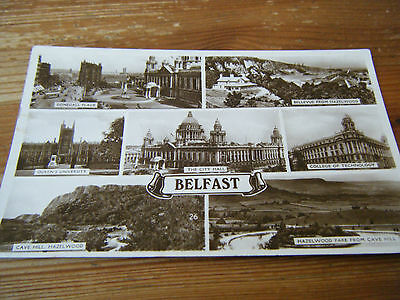 1940  Excel   Card  -  Belfast  - 7  View  Card   Franked  13.05.1940   Vgc
