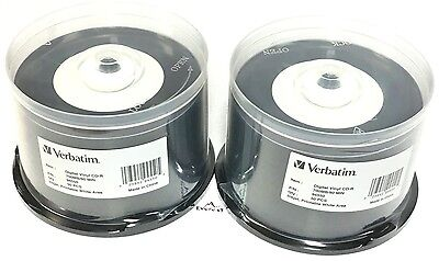 Verbatim Digital Vinyl CD-R 700MB/80 Min 120mm Standard Inkjet white 100PK 94550
