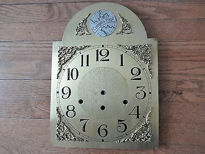 Vintage Grandfather Clock Brass Dial