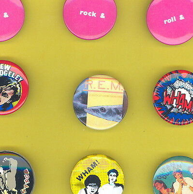 R.E.M. 1985 uk badge button pinback ww K CANT GET THERE FROM HERE