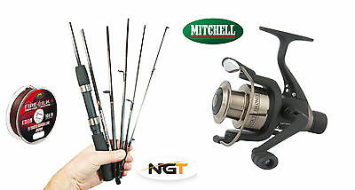 Mitchell Carbon Travel rod & reel combo + braid -very compact only 33.5cm long