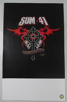 "Sum 41 - 13 Voices 11"" x 17"" Official Promo Poster * Rare"