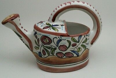 Vintage Portugal Ceramic Watering Can Signed SEC XVII 115