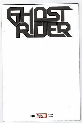 Now Ghost Rider # 1 NM Blank Variant Cover Marvel