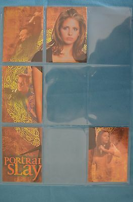 Buffy Season 1 premium trading cards RPortrait of a Slayer part set
