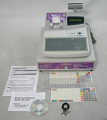 Cash Register Sharp Xe-A302 With Advanced Programing Support Xe A 302 Pc Connect