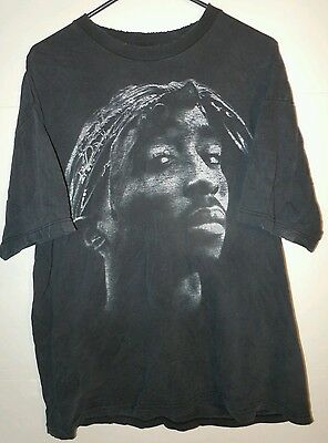 2-Pac XL Distressed Rare Vintage Collectible Hip Hop 90's T-Shirt Tu 2 Pac