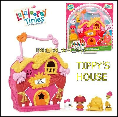 NEW Lalaloopsy Tinies Sew CuteTippy's House With Tinies Doll Accessories Case