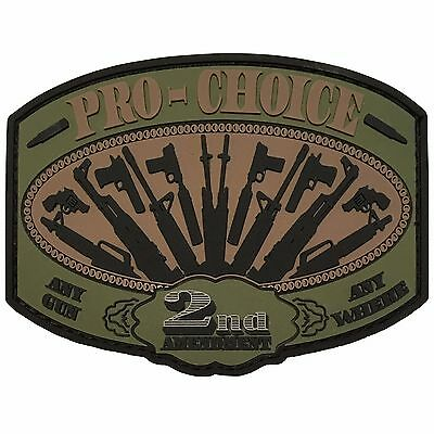 Pro Choice - 2nd Amendment - PVC Tactical Morale Patch With Hook Backing
