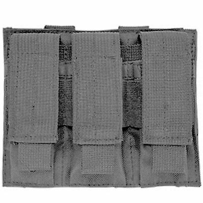NcSTAR Gray Triple MOLLE PALS Pistol Mag Magazine Pouch Holster M9 1911 9mm .45