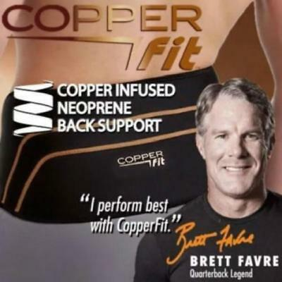 Copper Fit Back Pro Compression Lower Back Support New
