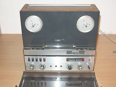 REVOX A77 TAPE RECORDER with ORIGINAL COVER SMALL in VERY GOOD CONDITION