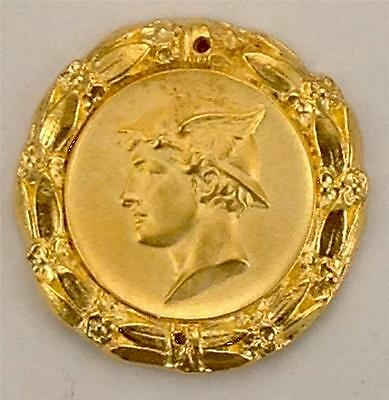 Roman Warrior 24Kt Gold Plaque Furniture Hardware For Interior Design Metalware