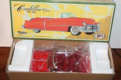 VERY NICE Fifties FRICTION OPERATED 1950 CADILLAC CONVERTIBLE in ORIGINAL BOX