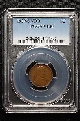 1909-S VDB Lincoln Cent Wheat Penny, PCGS, Key date