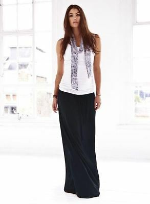 New Isabella Oliver Maternity Relaxed Black Maxi Skirt Small S 2 US 4/6; UK 8/10