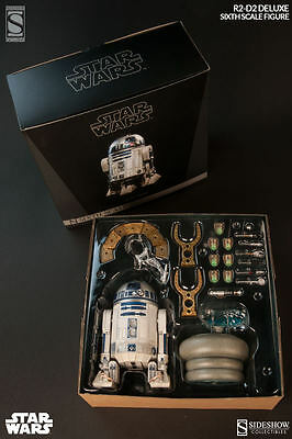 Sideshow STAR WARS R2-D2 DELUXE Exclusive figure. SEALED