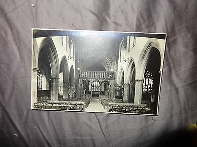 Leicester - The Cathedral Interior - Real Photo - Photochrom N/s