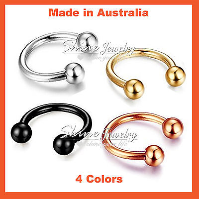 Horseshoe Ring Hoop Ball Awl Bar Cartilage Septum Helix Tragus Earring Piercing