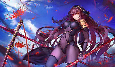F1015 Free Mat Bag CCG Playmat Large Game Mouse Pad Fate Grand Order Scathach