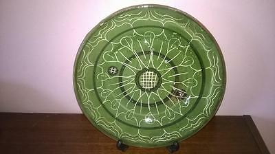 Wall Plate - Portugal - Hand Made - Green - Interesting Design - Tennis - Rare