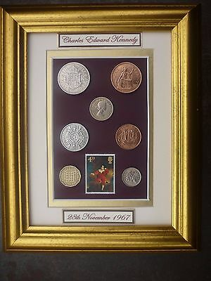 PERSONALISED FRAMED 1967 COIN SET 49th BIRTHDAY GIFT/ 50th birthday gift in 2017