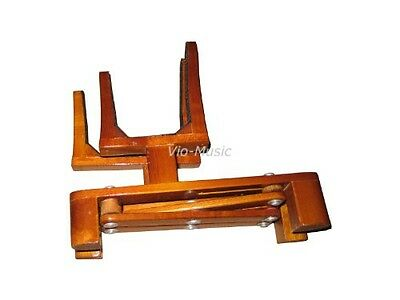Vio Music Adjustable Violin and Bow Wooden Holder, Portable