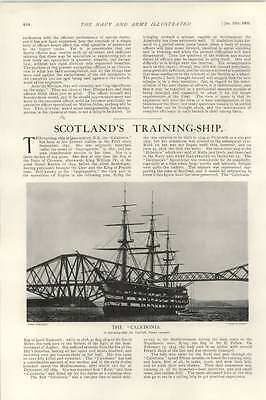 1903 Scotland's Training Ship The Caledonia Queensferry