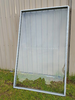 Large Aluminium Clear Toughened Glass Fixed Window 2400 x 1450